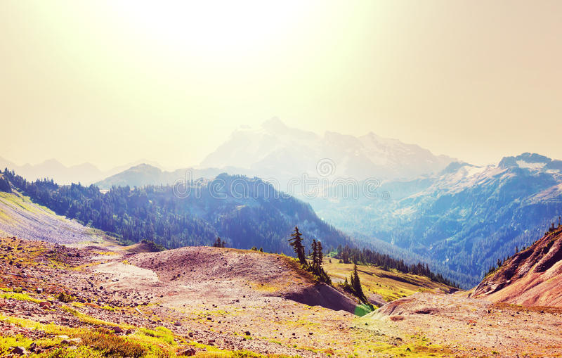Mt Baker Area. Mt. Baker recreation area, Washington, USA stock image