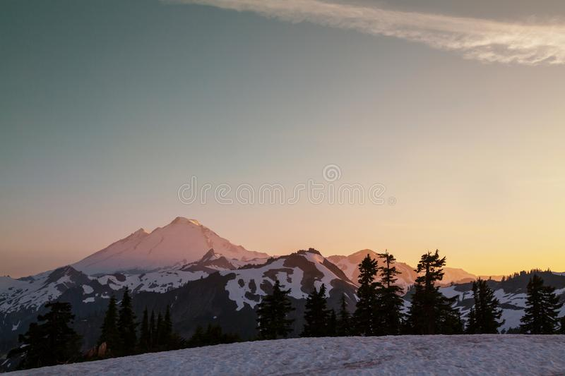 Mt Baker royalty free stock image