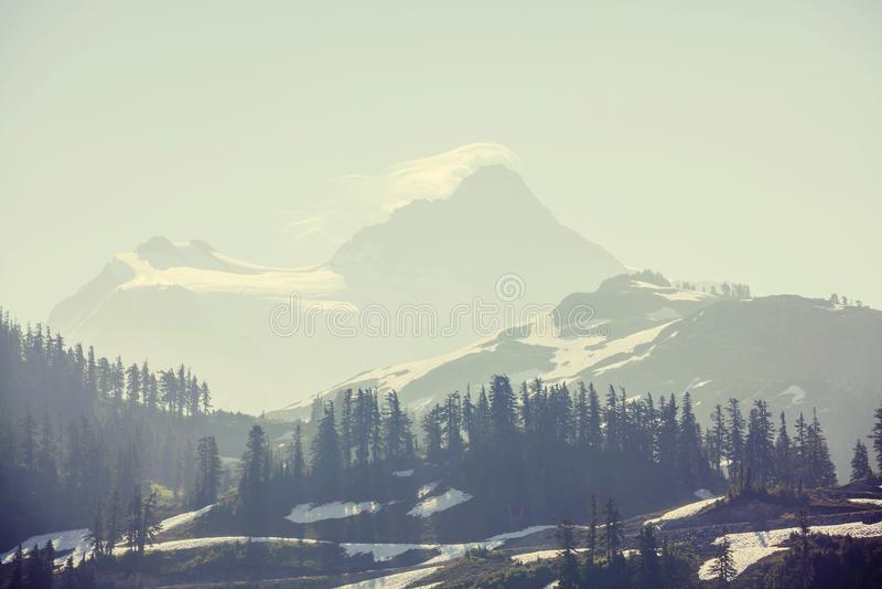 Mt Baker Area. Mt. Baker recreation area, Washington, USA stock photography