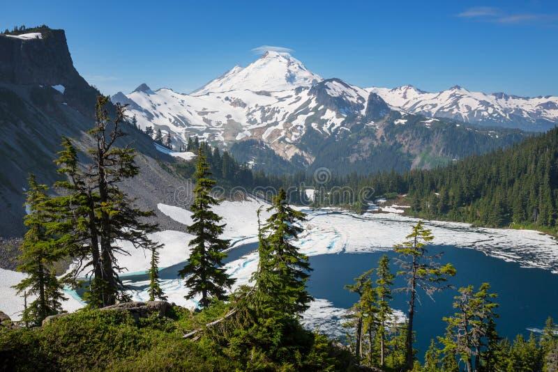 Mt Baker area. Mt Baker ski area stock images