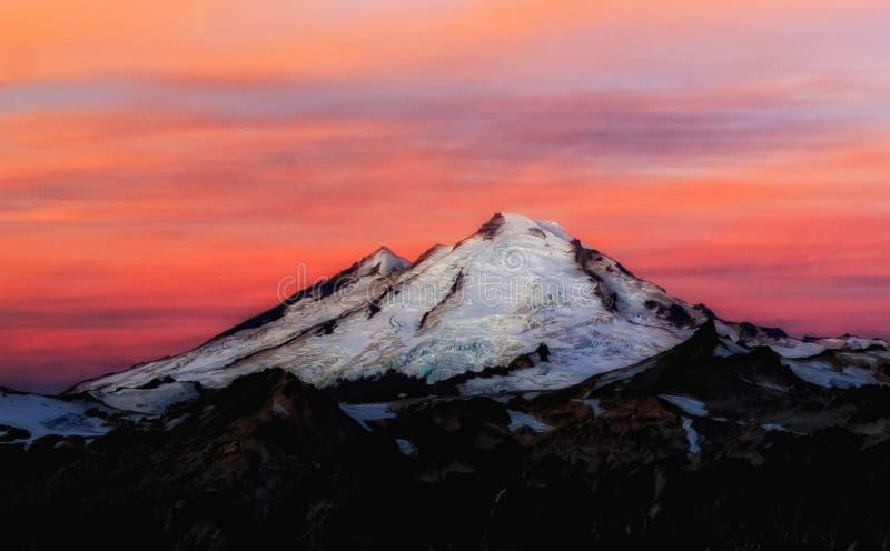 Mt. Baker Sunrise, Washington State. Taken in Mt. Baker National Forest, Washington State royalty free stock photo