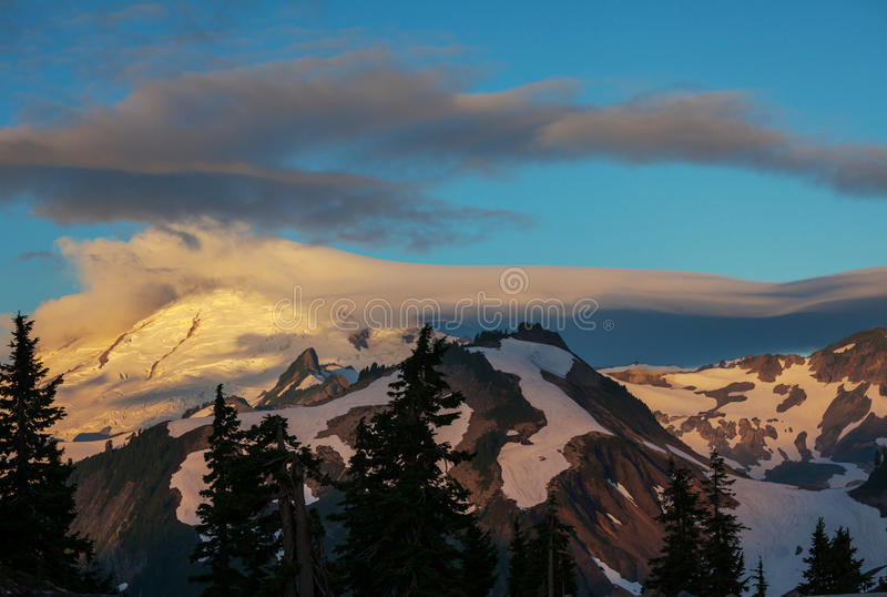Mt.Baker. In Washington royalty free stock images