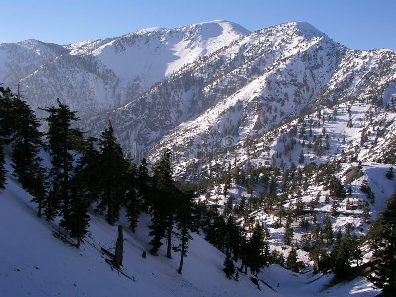 Mt. Baldy in de Winter royalty-vrije stock afbeeldingen