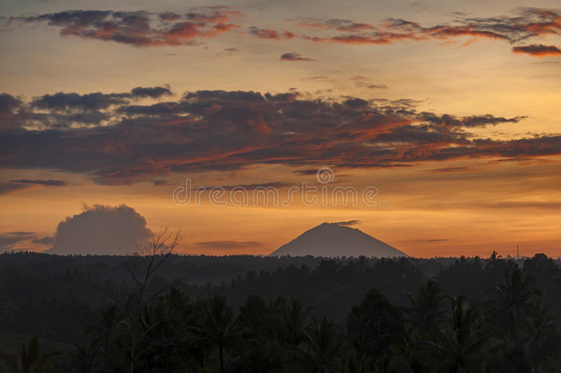 Mt. Batukaru. Gunung Batukaru, sometimes spelled Batukau, is Bali`s second-highest mountain at 2,276 m. It is the highest peak in the Bedugul volcanic area, but royalty free stock photography