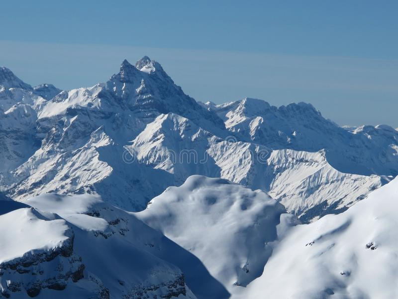 Mt Blanc. View from Glacier De Diablerets, Mt Blanc royalty free stock photo