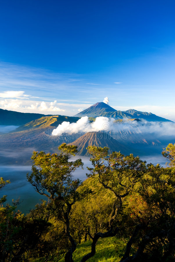 Mt Bromo. Mount Bromo located in Tengger Caldera, East Java Indonesia royalty free stock images
