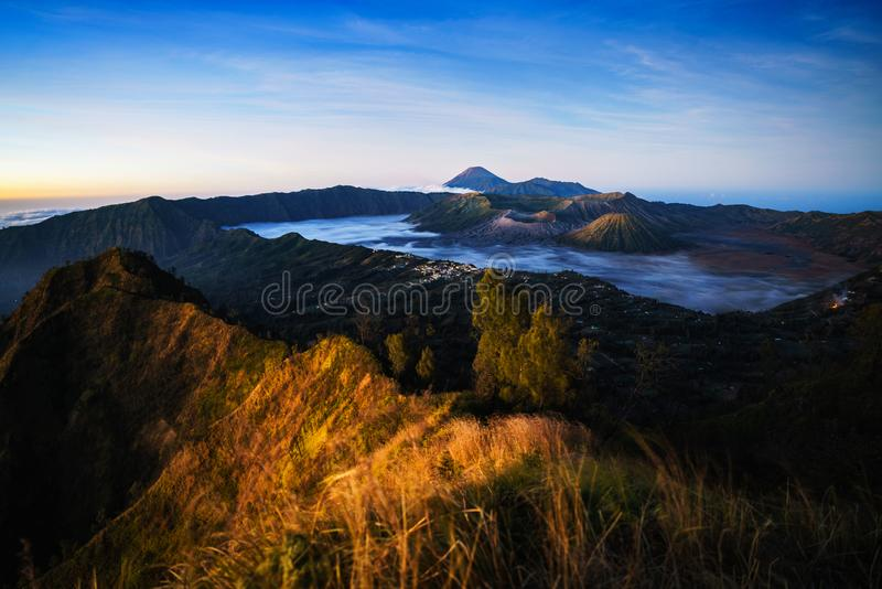 Mt Bromo. Is an active volcano and part of the Tengger massif, in East Java, Indonesia stock images