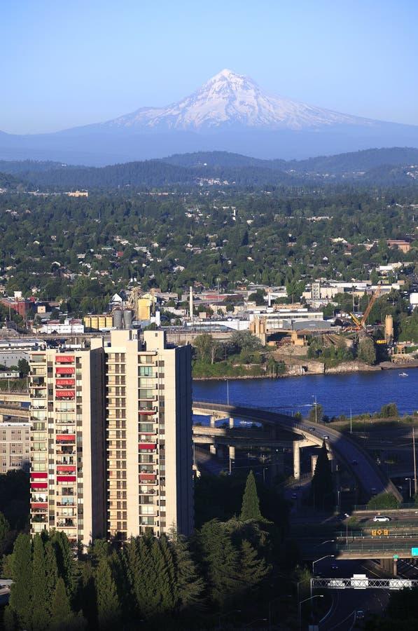 Mt. Capot et Portland oriental OU. images stock