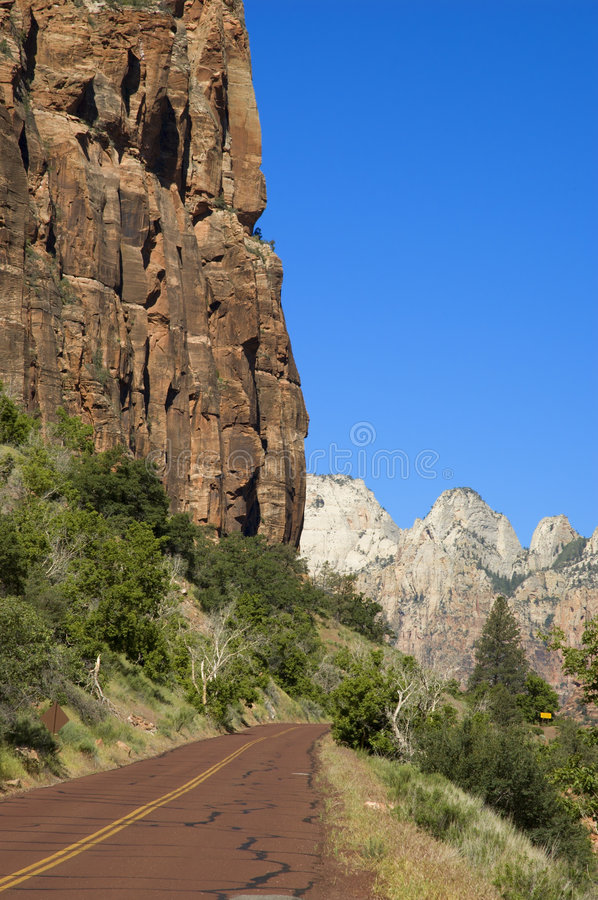 Download Mt Carmel Highway in Zion stock image. Image of scenic - 780591