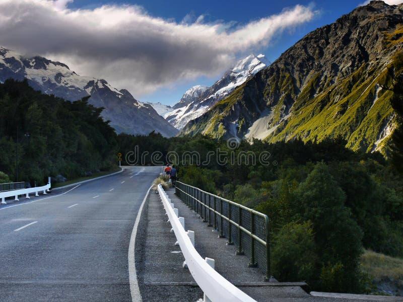 Mt Cocinero, parque nacional, Nueva Zelanda fotografía de archivo