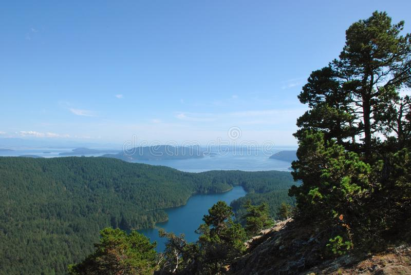 Mt. Constitution Trail, Orcas Island stock images