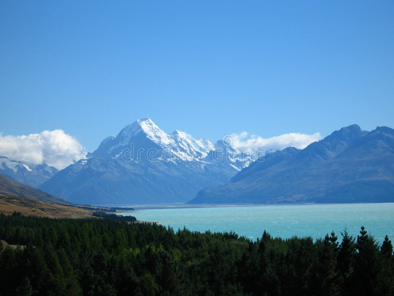 Mt Cook. /Aoraki located in New Zealand royalty free stock photography