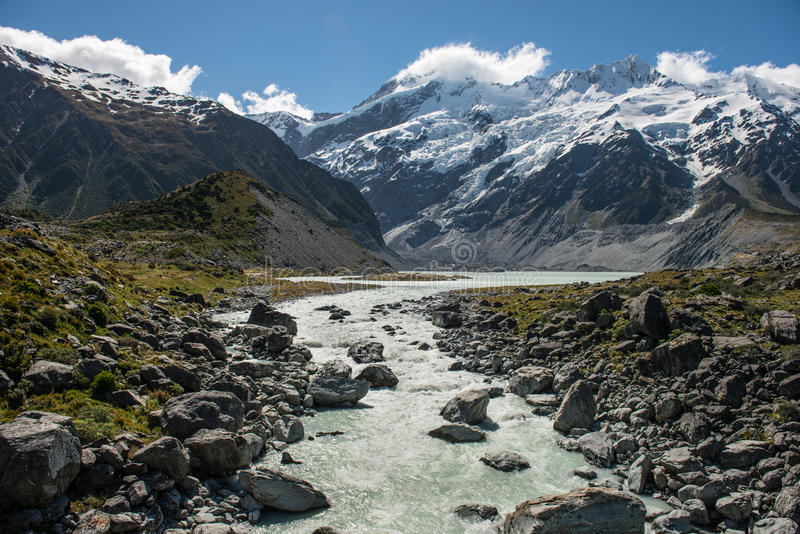 Mt.cook South Island New Zealand stock photo