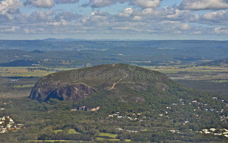 Mt Coolum, Sunshine Coast, Queensland, Australia. Mount Coolum was created around 26 million years ago and is one of several isolated volcanic peaks found on the stock photography