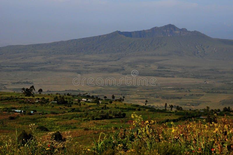 Mt Cratera de Longonot, grande Rift Valley, Kenya foto de stock
