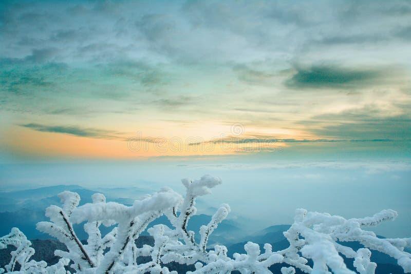 Mt. de sneeuw van Emei stock afbeeldingen