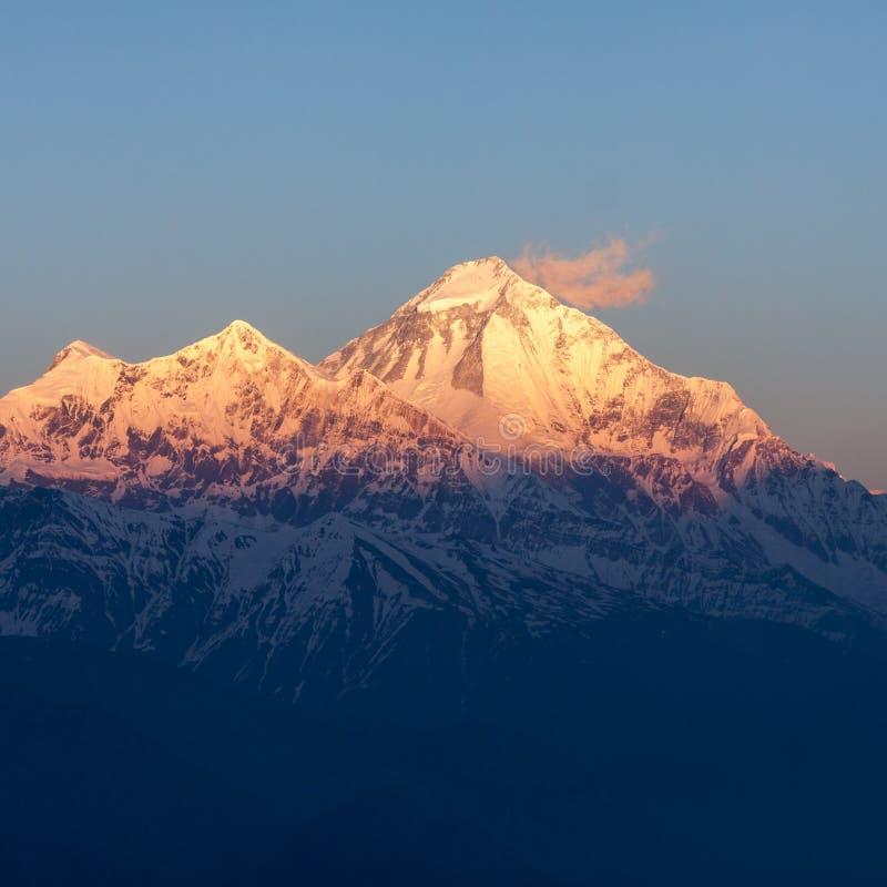 Mt Dhaulagiri, Nepal obraz stock