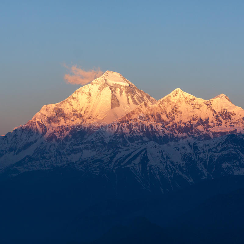 Mt Dhaulagiri, Nepal obrazy royalty free