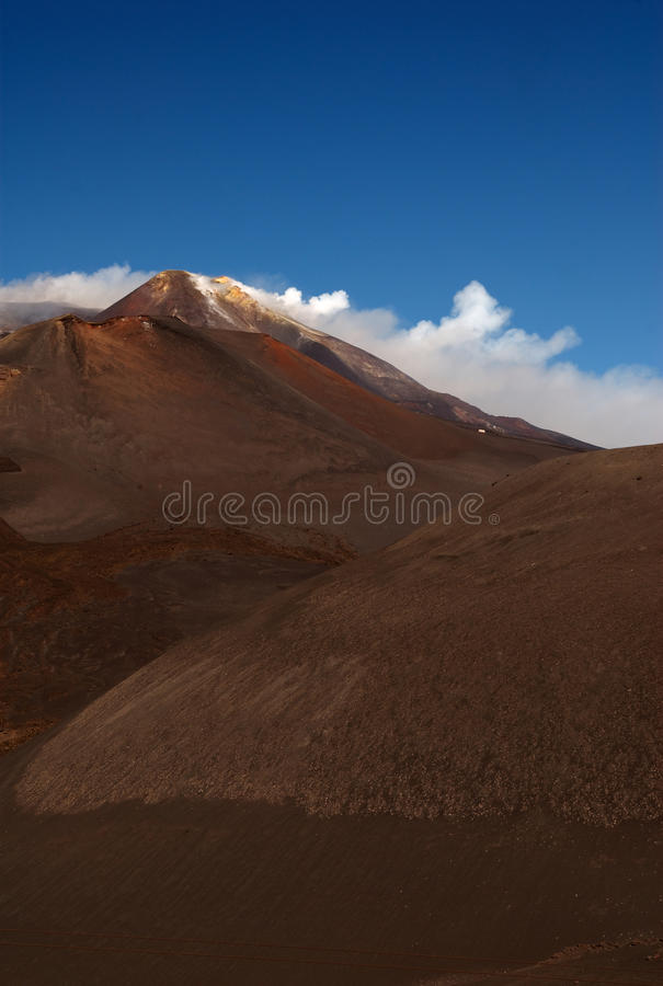 Mt el Etna, Sicilia, Italia foto de archivo libre de regalías