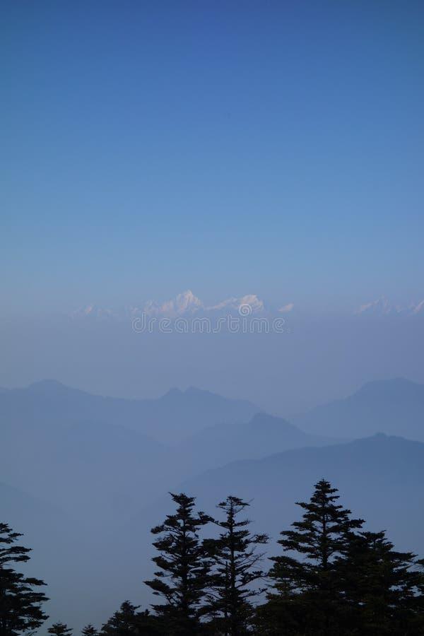 Mt Emei fotografie stock libere da diritti