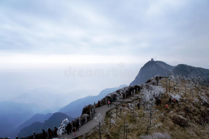 Download Mt. emei winter stock photo. Image of look, down, high - 31095440