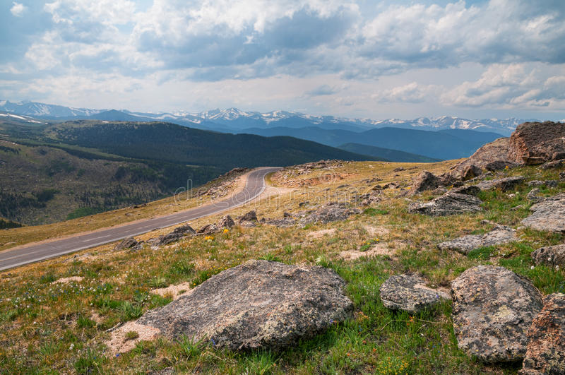 Mt. Evans Highway photos stock