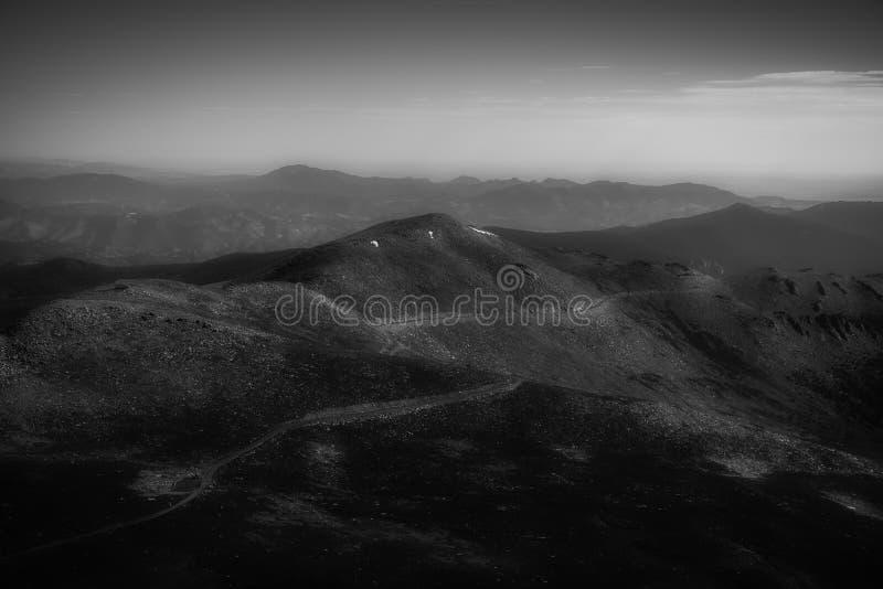 Mt Evans Highway lizenzfreie stockfotografie