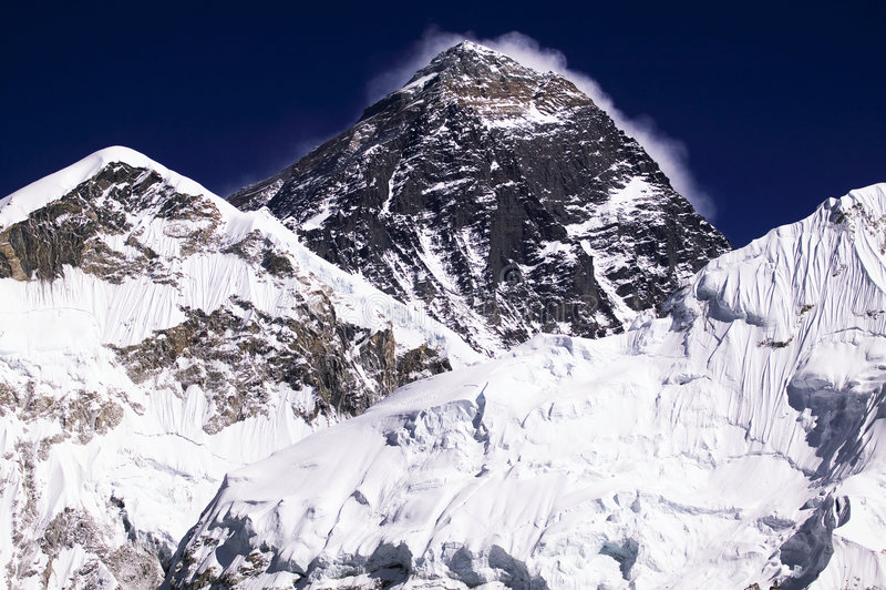 Mt. Everest royalty-vrije stock afbeelding
