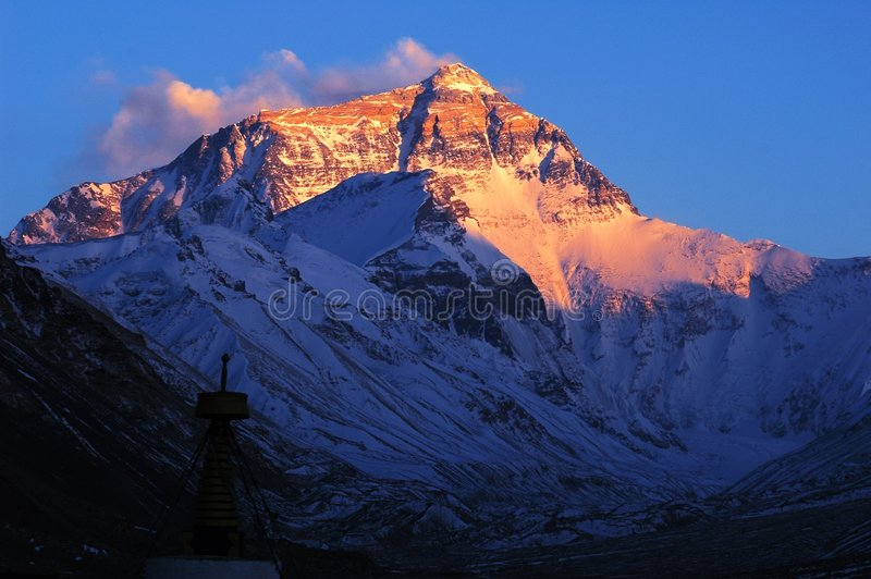 MT Everest royalty-vrije stock foto