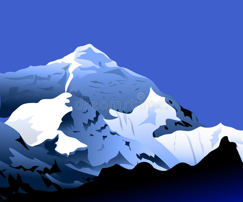 Mt Everest alla mattina royalty illustrazione gratis