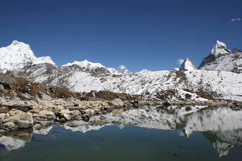 Mt. Everest - Nepal stock images
