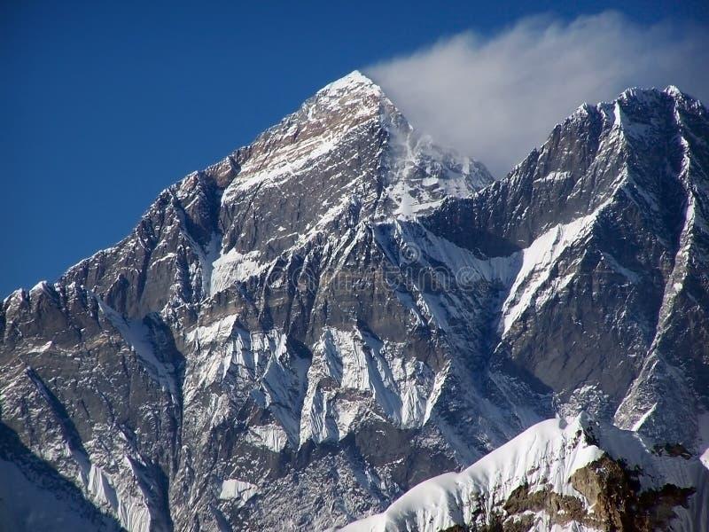 Mt. Everest, Nuptse imagen de archivo