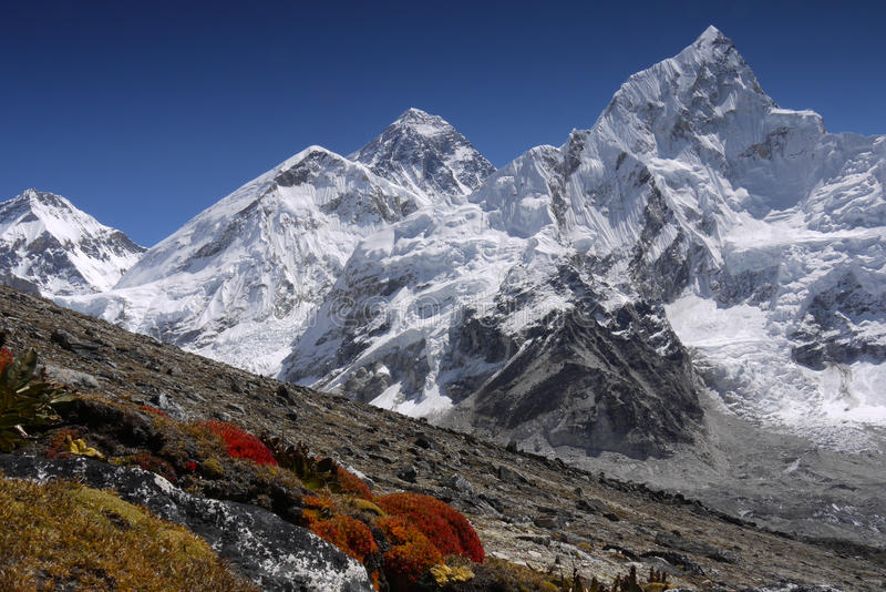 Download Everest peak stock photo. Image of color, tourist, orange - 17011326