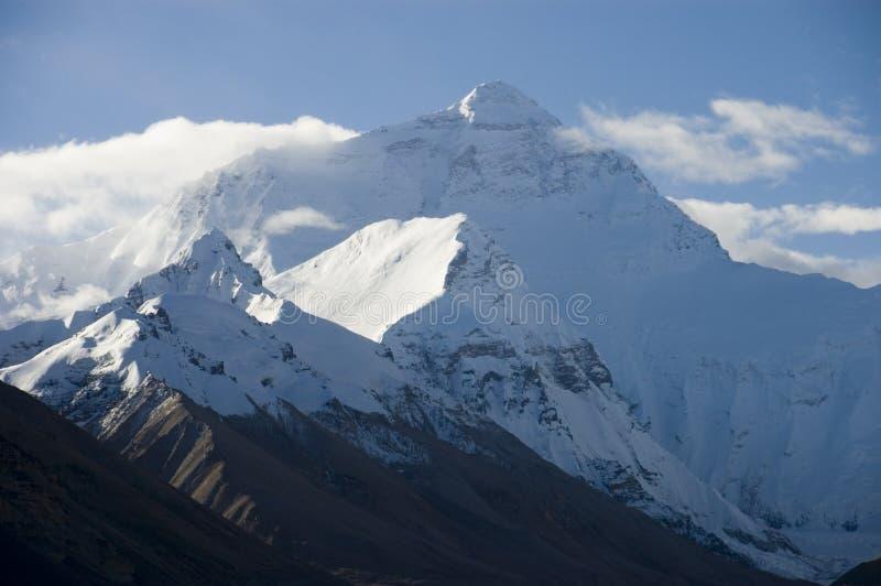 MT Everest van het gezicht van het noorden stock foto