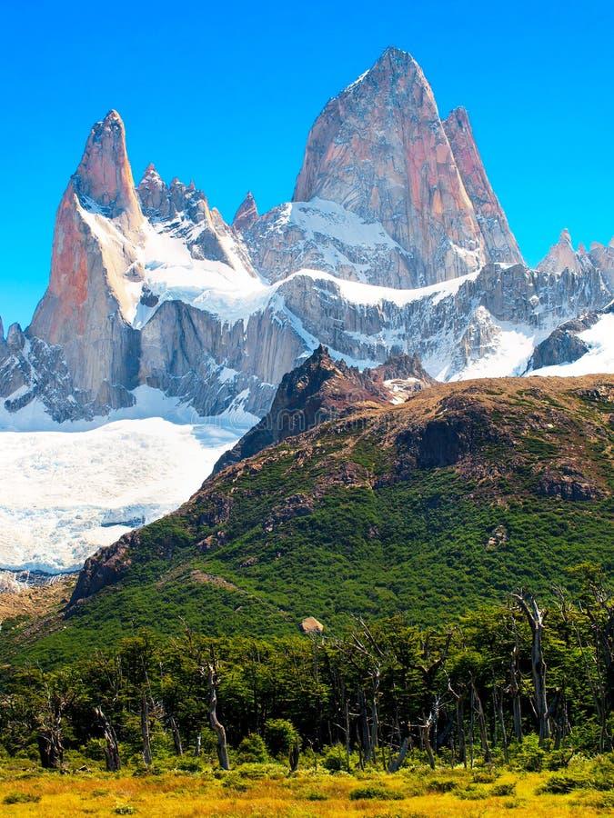Mt Fitz Roy i Patagonia, South America royaltyfri bild