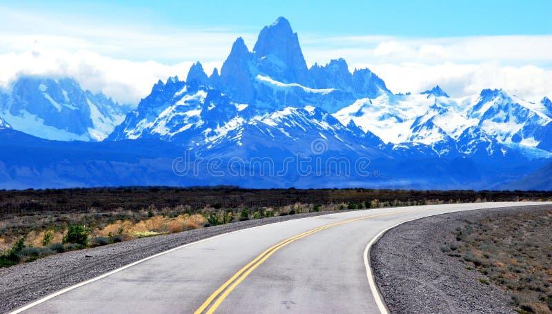 Mt Ftz Roy perto do EL Chalten no Patagonia em Argentina fotos de stock royalty free