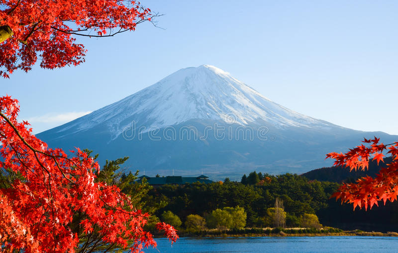 Mt.Fuji in autumn. At lake Kawaguchiko royalty free stock photo