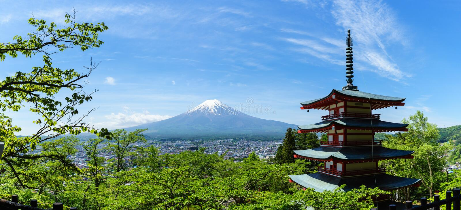 Mt. Fuji with blue sky royalty free stock photography