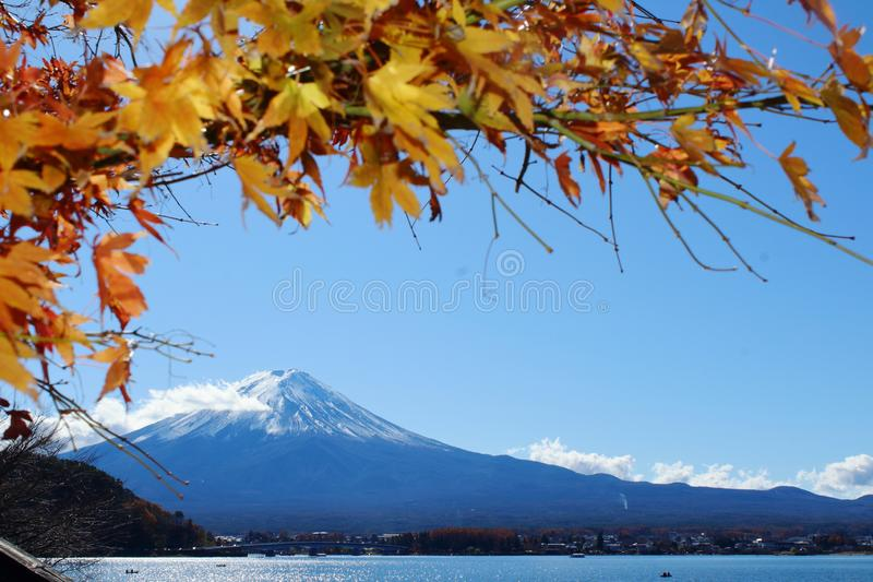 MT Fuji in de Herfst stock foto