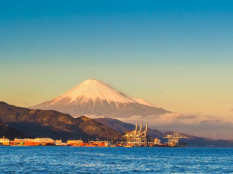 Mt. Fuji from Shizuoka, Japan royalty free stock photography