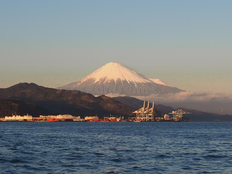 Mt. Fuji from Shizuoka, Japan stock photo