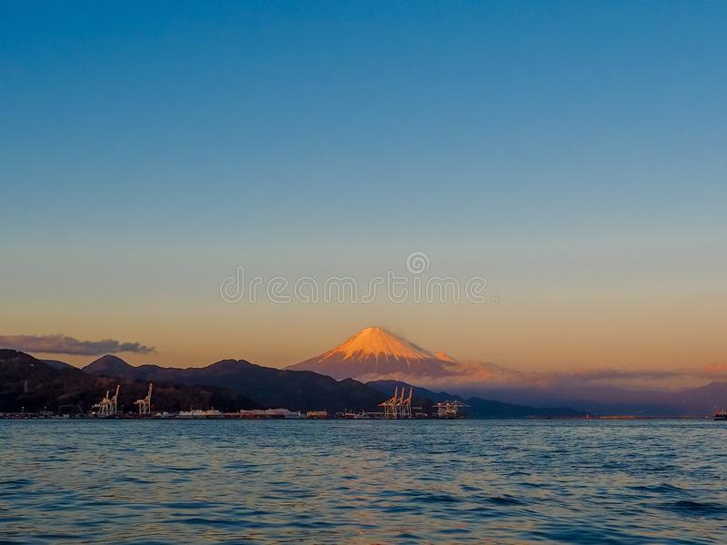 Mt. Fuji from Shizuoka, Japan royalty free stock photo