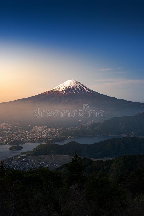 Mt Fuji in the early morning stock images