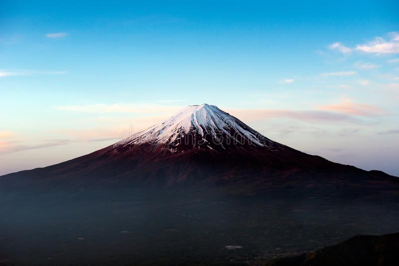 Mt Fuji in the early morning stock photos
