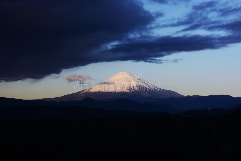 Mt. Fuji in the early morning royalty free stock image