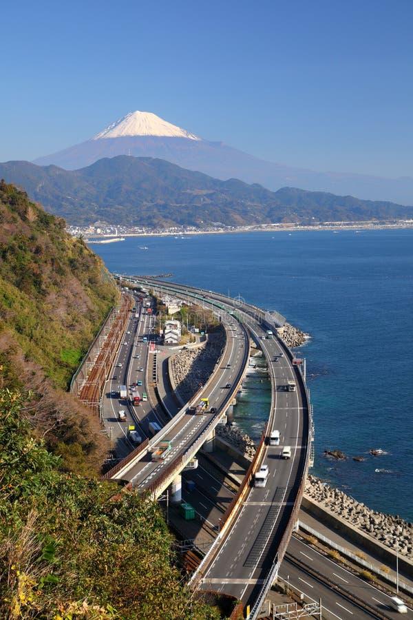 Mt. Fuji en Snelweg royalty-vrije stock foto
