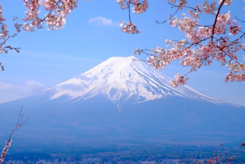Mt Fuji et Cherry Blossom dans le printemps du Japon et le x28 ; Calorie japonaise image stock