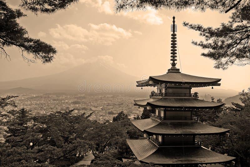 Mt Fuji, Fujiyoshida, Giappone fotografie stock libere da diritti