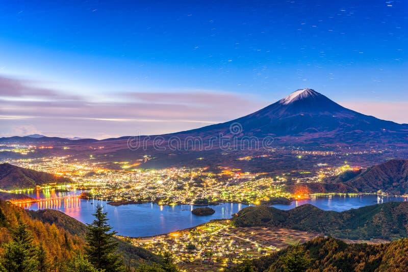 Mt Fuji höst royaltyfria foton