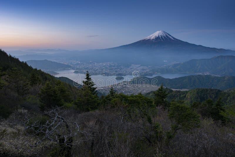Mt Fuji i ottan royaltyfria bilder